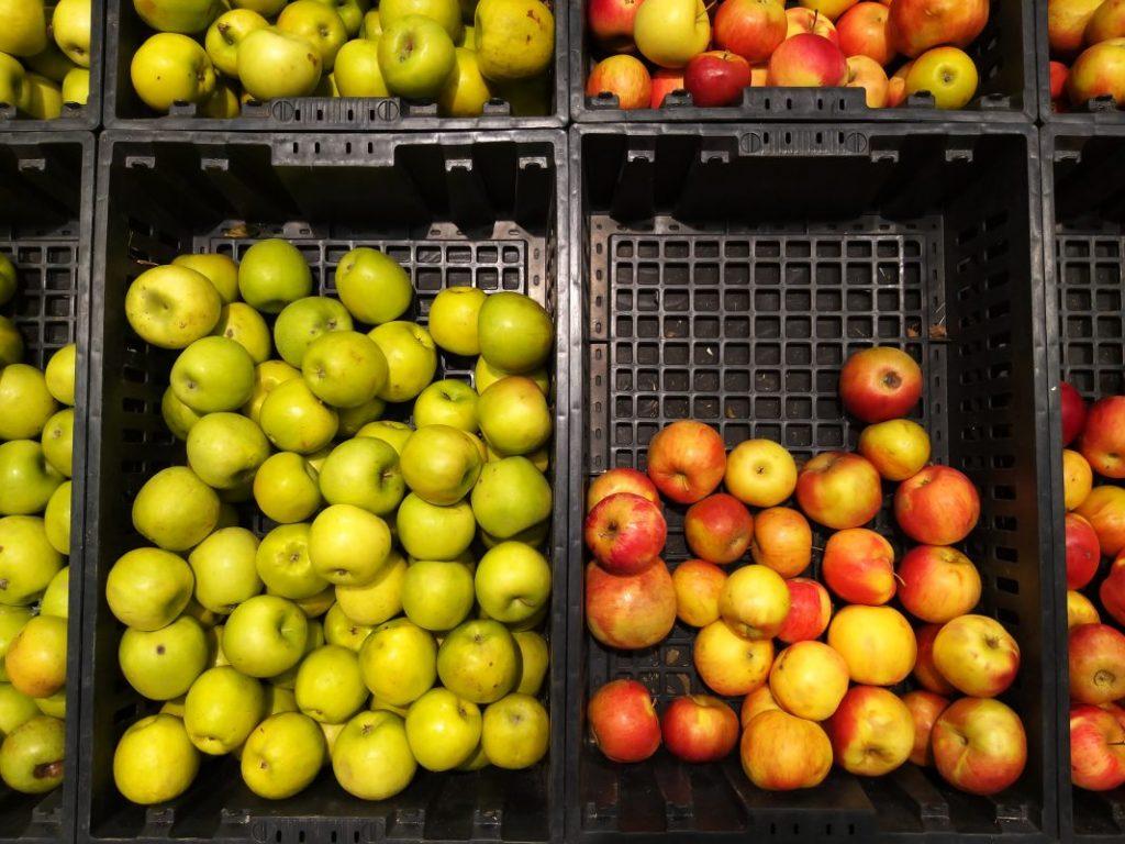 яблоки в торговых сетях