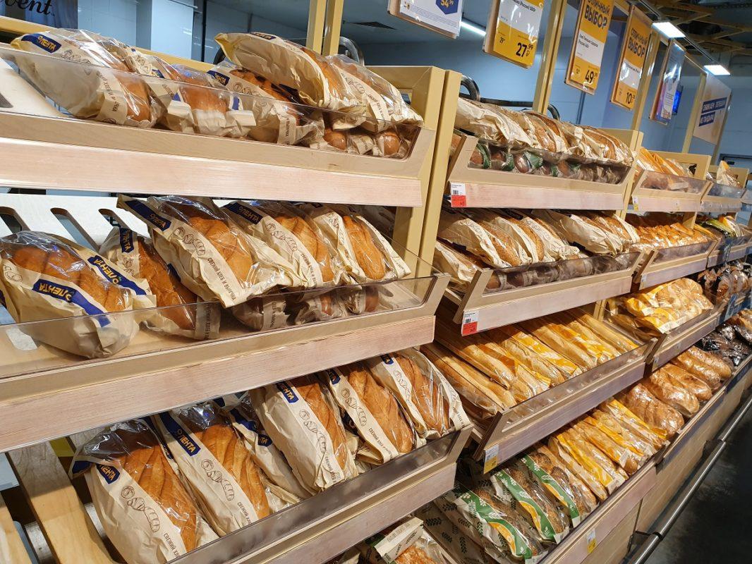 хлеб в супермаркетах Лента